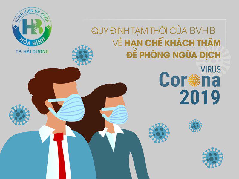 Khuyến cáo của Bệnh viện đa khoa Hòa Bình về hạn chế khách thăm để phòng ngừa dịch virus Corona (nCoV) 2020